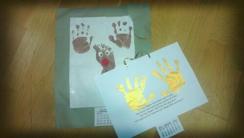 Calendars made from handprints