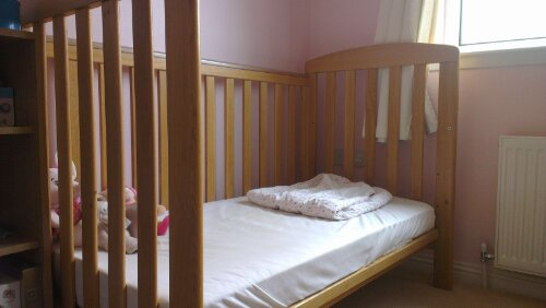 Megan's cot - after pic