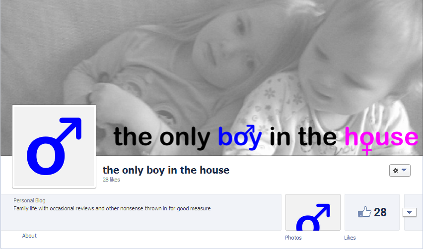 Facebook banner for the only boy in the house