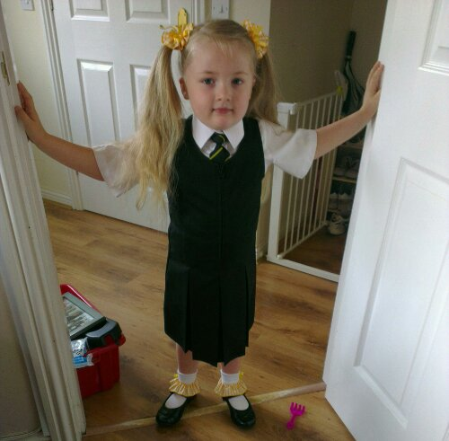 Heather, ready for school
