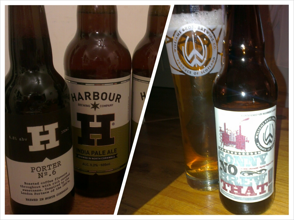 Porter No.6 and India Pale Ale by Harbour, Gonny No Brew That by Williams Bros.